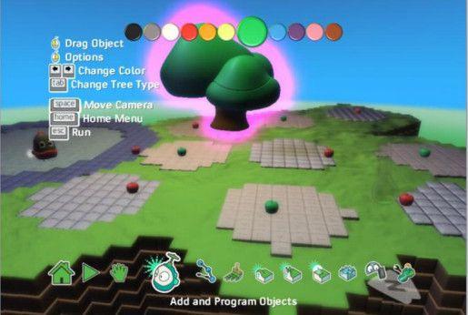kodu gamelab interfaz
