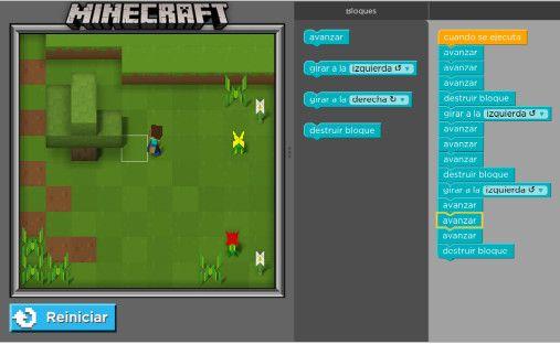 minecraft interfaz