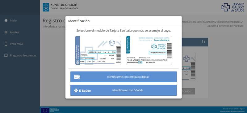 Imagen del los 2 modelos de tarjeta sanitaria que hay en Galicia