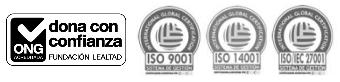 logo fundación lealtad y logos certificaciones ISO IGC